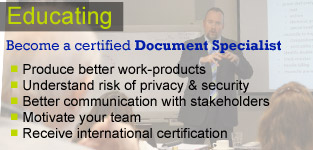 more about the Transaction Document Specialist School: Professional development; PRoducing better work-products; Better internal & external communication; Motivating your team; International certification